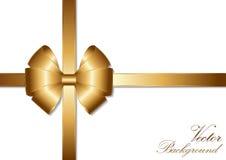 Diseño de oro de la cinta del arco Foto de archivo