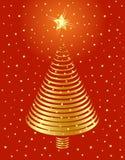 Diseño de oro del árbol de navidad. Imagen de archivo