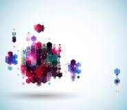 Diseño de página abstracto brillante para su presentación. Foto de archivo