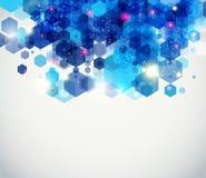 Diseño de página azul y chispeante para su presentación. Imagenes de archivo
