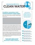 Diseño de página del agua potable Imagen de archivo