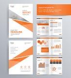 Diseño de página para el perfil de compañía, el informe anual, y la plantilla del folleto