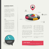 Diseño de página plano moderno Fotos de archivo