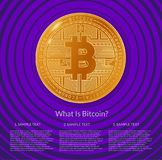 Diseño de página web sobre bitcoin stock de ilustración