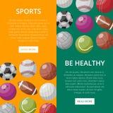 Diseño de página web sobre deportes ilustración del vector