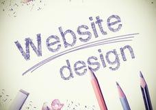 Diseño de páginas Web Foto de archivo libre de regalías