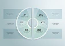 Diseño de papel de Infographics del círculo Fotos de archivo