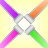 Diseño de papel de la esquina del color del rasgón ilustración del vector