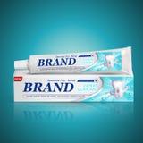Diseño de paquete de la crema dental Imágenes de archivo libres de regalías