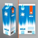 Diseño de paquete de la leche Fotografía de archivo