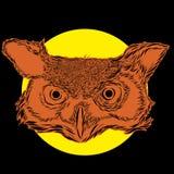 Diseño de personaje de dibujos animados de Owl Spirit Foto de archivo