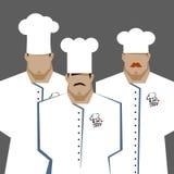 Diseño de personaje de dibujos animados de Serving Food Realistic del cocinero del cocinero Imagenes de archivo