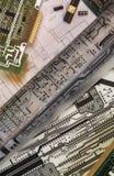 Diseño de placas de circuito impresas Fotografía de archivo