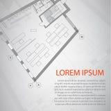 Diseño de plan arquitectónico detallado Trabajo conceptual de la casa libre illustration