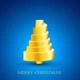 Diseño de postal con el Año Nuevo de oro abstracto t Foto de archivo