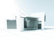 Diseño de proyecto de la arquitectura libre illustration