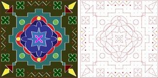 Diseño de Rangoli Fotos de archivo libres de regalías