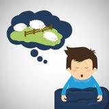 Diseño de reclinación Icono del sueño concepto de la hora de acostarse, ejemplo del vector ilustración del vector