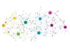 Diseño de red abstracto stock de ilustración
