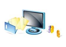 Diseño de red de las conexiones del email Fotos de archivo libres de regalías