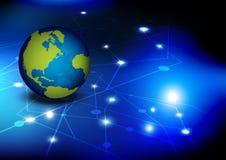 Diseño de red global ilustración del vector