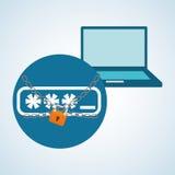 Diseño de sistema de seguridad, advertencia y concepto de la tecnología Imágenes de archivo libres de regalías