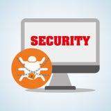 Diseño de sistema de seguridad, advertencia y concepto de la tecnología Foto de archivo libre de regalías