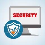 Diseño de sistema de seguridad, advertencia y concepto de la tecnología Imagenes de archivo