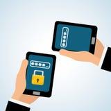 Diseño de sistema de seguridad, advertencia y concepto de la tecnología Fotografía de archivo libre de regalías