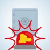 Diseño de sistema de seguridad, advertencia y concepto de la tecnología Fotografía de archivo