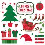 Diseño de sistemas completos de la Navidad Imagen de archivo libre de regalías
