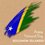 Diseño de Solomon Islands Independence Day Patriotic Imagen de archivo libre de regalías