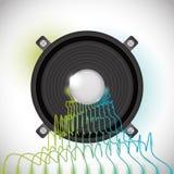 Diseño de sonido ilustración del vector