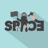 Diseño de With Space Typography del astronauta Imagen de archivo libre de regalías