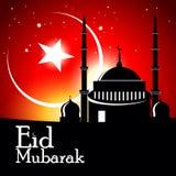 Tarjeta de felicitación islámica para Eid Mubarak Imagenes de archivo