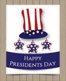 Diseño de tarjeta americano de presidente Day Foto de archivo