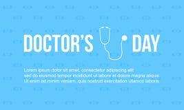 Diseño de tarjeta de la celebración del día del doctor libre illustration