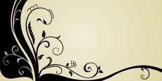 Diseño de tarjeta de la esquina ornamental Fotografía de archivo libre de regalías