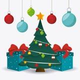 Diseño de tarjeta de la Feliz Navidad ilustración del vector