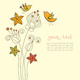 Diseño de tarjeta de la flor Imágenes de archivo libres de regalías