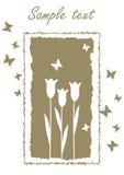 Diseño de tarjeta de la flor libre illustration