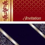 Diseño de tarjeta de la invitación Foto de archivo libre de regalías