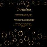 Diseño de tarjeta de la invitación Imágenes de archivo libres de regalías