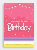 Diseño de tarjeta de la invitación para la fiesta de cumpleaños Foto de archivo libre de regalías