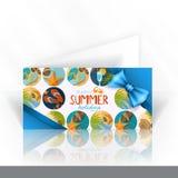 Diseño de tarjeta de la invitación, plantilla stock de ilustración