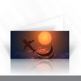 Diseño de tarjeta de la invitación, plantilla Imagen de archivo