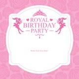 Diseño de tarjeta de la princesa del cumpleaños Imagenes de archivo