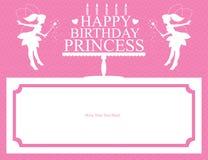 Diseño de tarjeta de la princesa del cumpleaños Fotografía de archivo