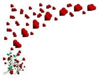 Diseño de tarjeta de la tarjeta del día de San Valentín stock de ilustración