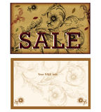 Diseño de tarjeta de la venta ilustración del vector